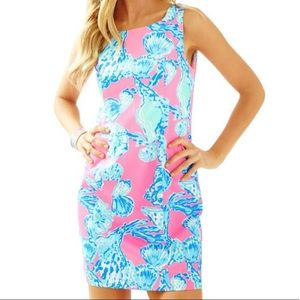 NEW Lilly Pulitzer Cathy Pink Shift Dress Size 12